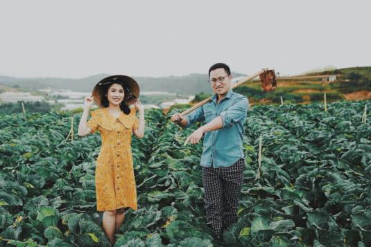 Làm vườn – Concept chụp ảnh cưới nông thôn độc đáo chỉ có tại Đà Lạt